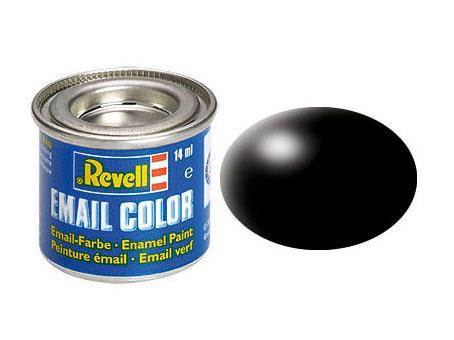 Revell 14ml Paint:  Satin Matt Black