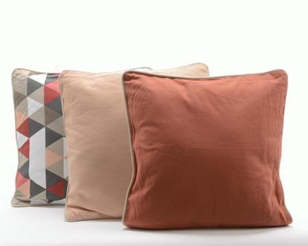 Cotton Cushion Graphic - Plain Peach - Plain Coral