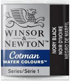 Cotman Watercolour Half Pan: Ivory Black