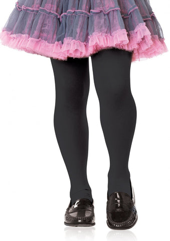 Leg Avenue Kids Opaque Tights: Xl: Black