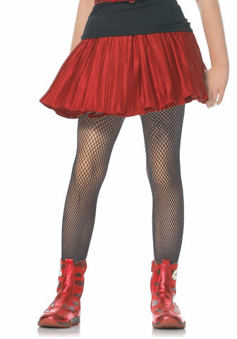 Leg Avenue Kids Fishnet Tights: S: Black