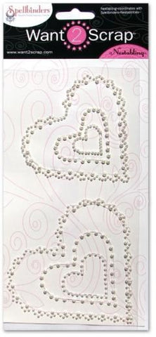 Nestabling Scalloped Hearts Pearl P