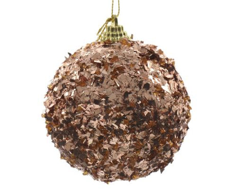 Copper Foam Bauble With Foil
