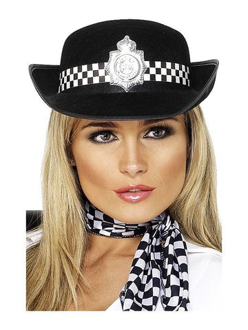 Black Police Womans Hat