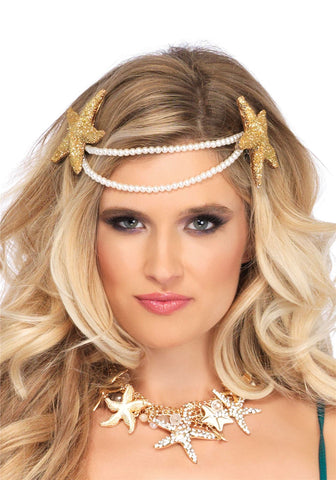 Leg Avenue Mermaid pearl starfish headband