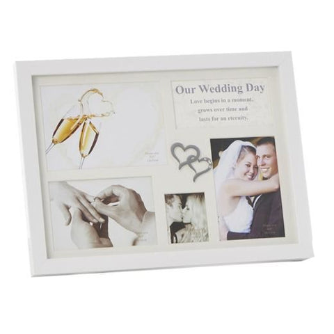 Gloss White 5 Picture Wedding Frame