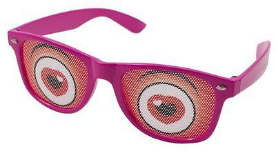 Party Glasses With Red Heart Eyes