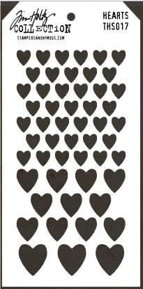 Tim Holtz Stencil Collection Hearts