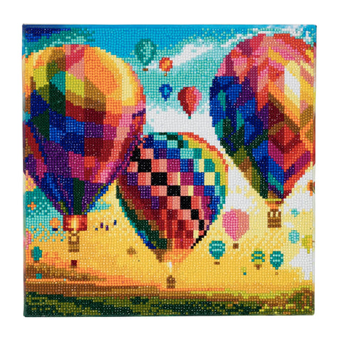 Hot Air Balloon - Framed Crystal Art Kit - 30x30cm