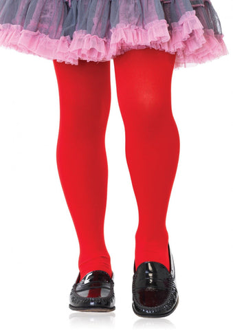 Leg Avenue Kids Opaque Tights: L: Red