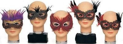 Crimson Feather Eye Mask