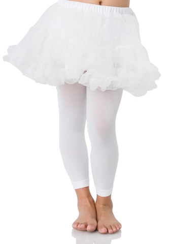 Leg Avenue Childrens White Petticoat: Small/Medium