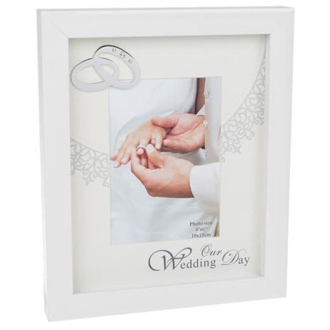 "Wedding Frame - 4""x 6"" -  Gloss White"