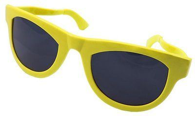 Xxl Party Glasses Neon Yellow