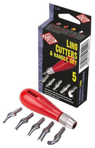 Essdee 5 Lino Cutters and Handle Set