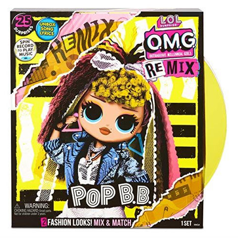 L.O.L. Surprise! 567257 L.O.L O.M.G. Remix Pop B.B. Fashion Doll – 25 Surprises with Music