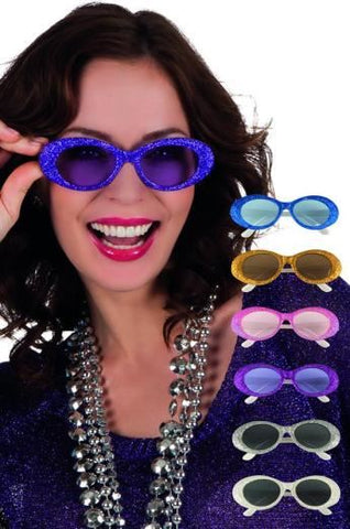 Glitter Assorted Sunglasses: Silver