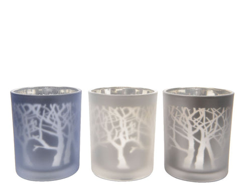 Laser Tree Tealight Holder 7x8.5cm (3 assorted 1 supplied)  - diameter 7x8.5cm