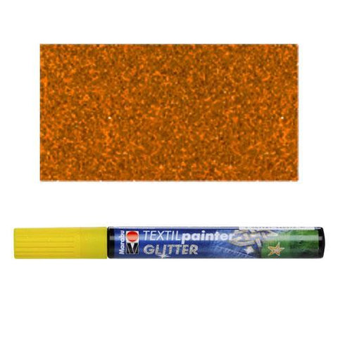 Marabu Textile Painter Glitter: Brown
