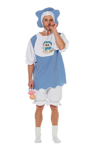 Adult Baby Boy Mens Costume