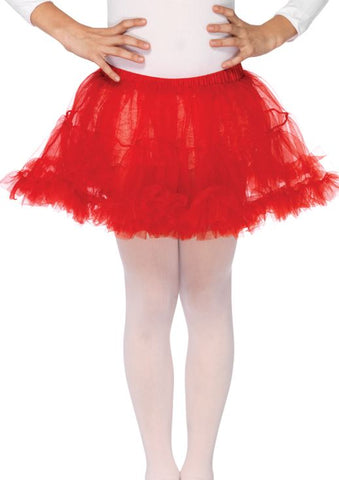 Leg Avenue Childrens Red Petticoat: Medium/Large