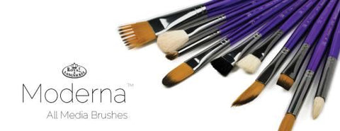 Moderna All Media Brushes: OVAL WASH 3/