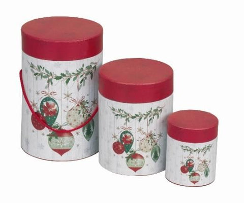 Christmas Baubles Tube Gift Box Medium