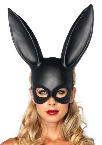 Leg Avenue Masquerade Black Rabbit Mask
