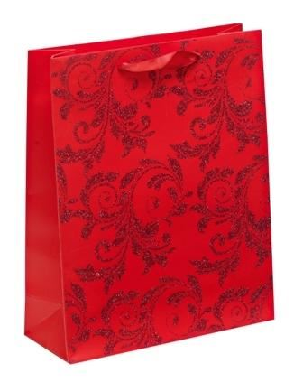 Christmas Red Glitter Gift Bag Medium