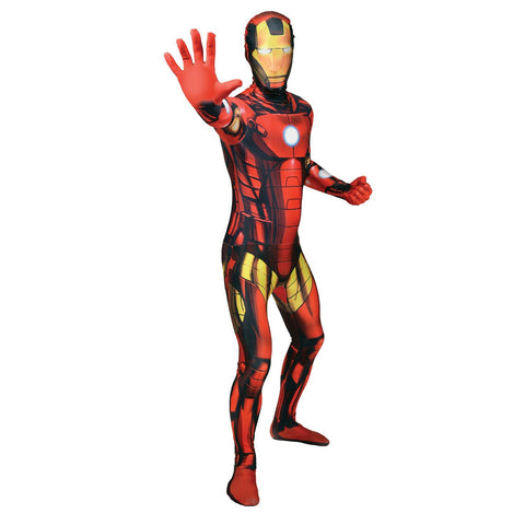 Adult Morphsuit Iron Man Mens Costume
