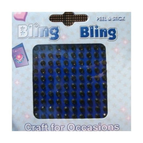 Bling Diamonte: 3mm: Black