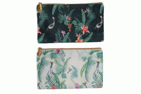 Polyester Make Up Bag with Palm Print