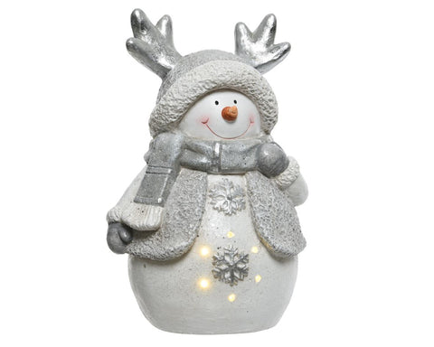 Christmas decoration, LED snowman, excludes batteries, 23x30x42cm - 6 lights, 1 supplied