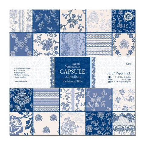 8 x 8 Paper Pack (32pk) - Capsule Collection - Parisienne Blue GA0543