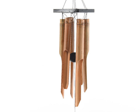 Bamboo Wind Chime - Black Square On Top 20 X 120cm
