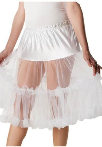 Knee Length White Petticoat