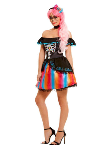 Adult Day of the Dead Senorita Ombre LadiesCostume