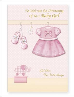 Hand Crafted Card/Baby Christening CB24049