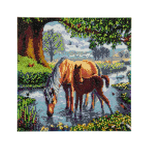 Fell Ponies - Framed Crystal Art Kit - 30x30cm
