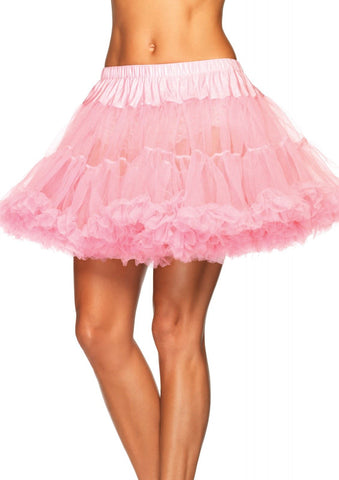 Leg Avenue Plus Size Petticoat 1X2X (UK 16-18):  Pink