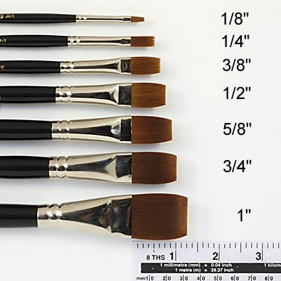 Acrylix Brush Short Flat1
