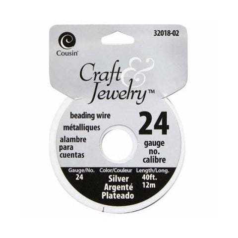 24 Gauge Beading Wire - Silver (40F