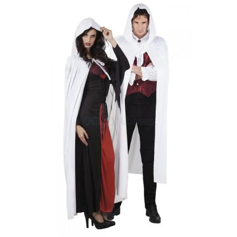 Adult Hooded Cape White Costume