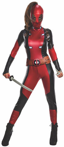Adult Secret Wishes Deadpool Ladies Costume