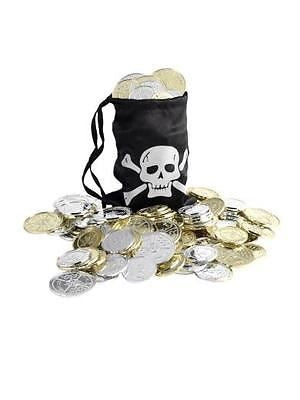 Smiffys Pirate Coin Bag (Black)  Smiffys