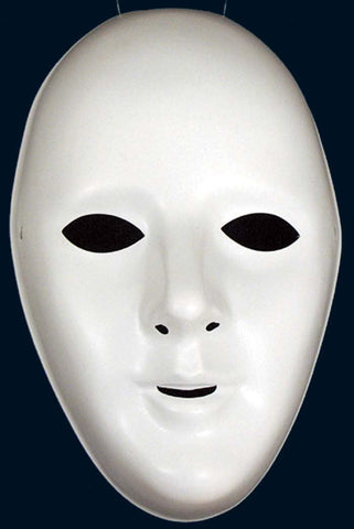 Female White Robot Mask