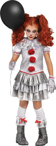 Child Carnevil Clown Girls Costume