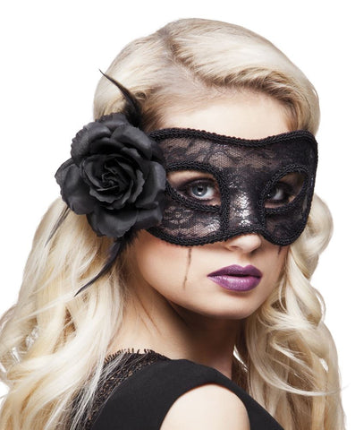 Lace eye mask Mystique black