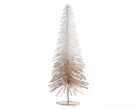 Plastic Tree With Colour-Flow Glitter Oyster - Small