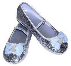 Silver Glitter Party Shoes: Age (9-10 years)